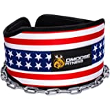 """Premium Dip Belt with Chain by DMoose Fitness – 36"""" Heavy Duty Steel Chain, Comfort Fit Neoprene, Double Stitching – Maximize your Weightlifting & Bodybuilding Workouts"""