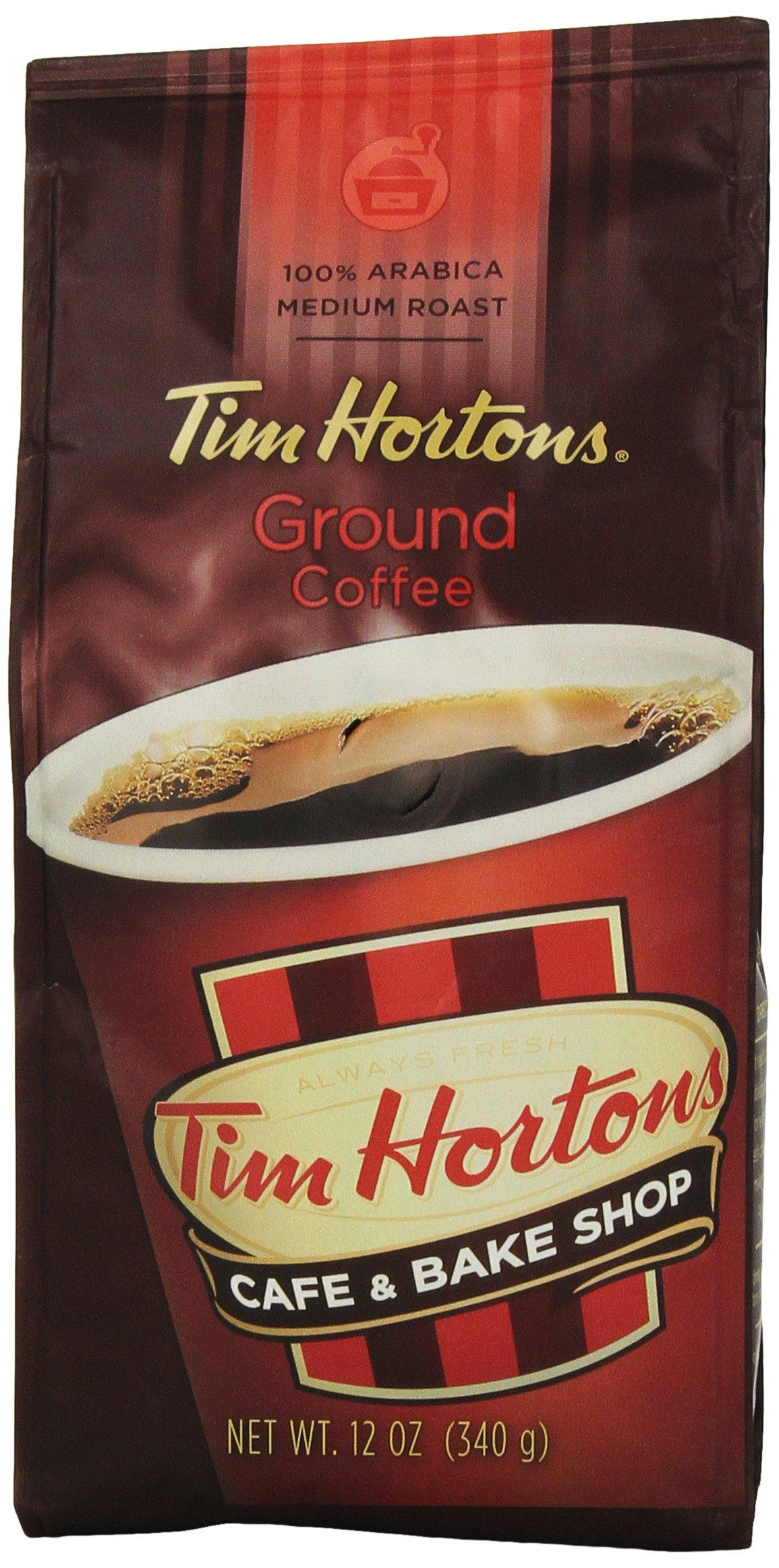Tim Horton's 100% Arabica Medium Roast Original Blend Ground Coffee, 12 Ounce
