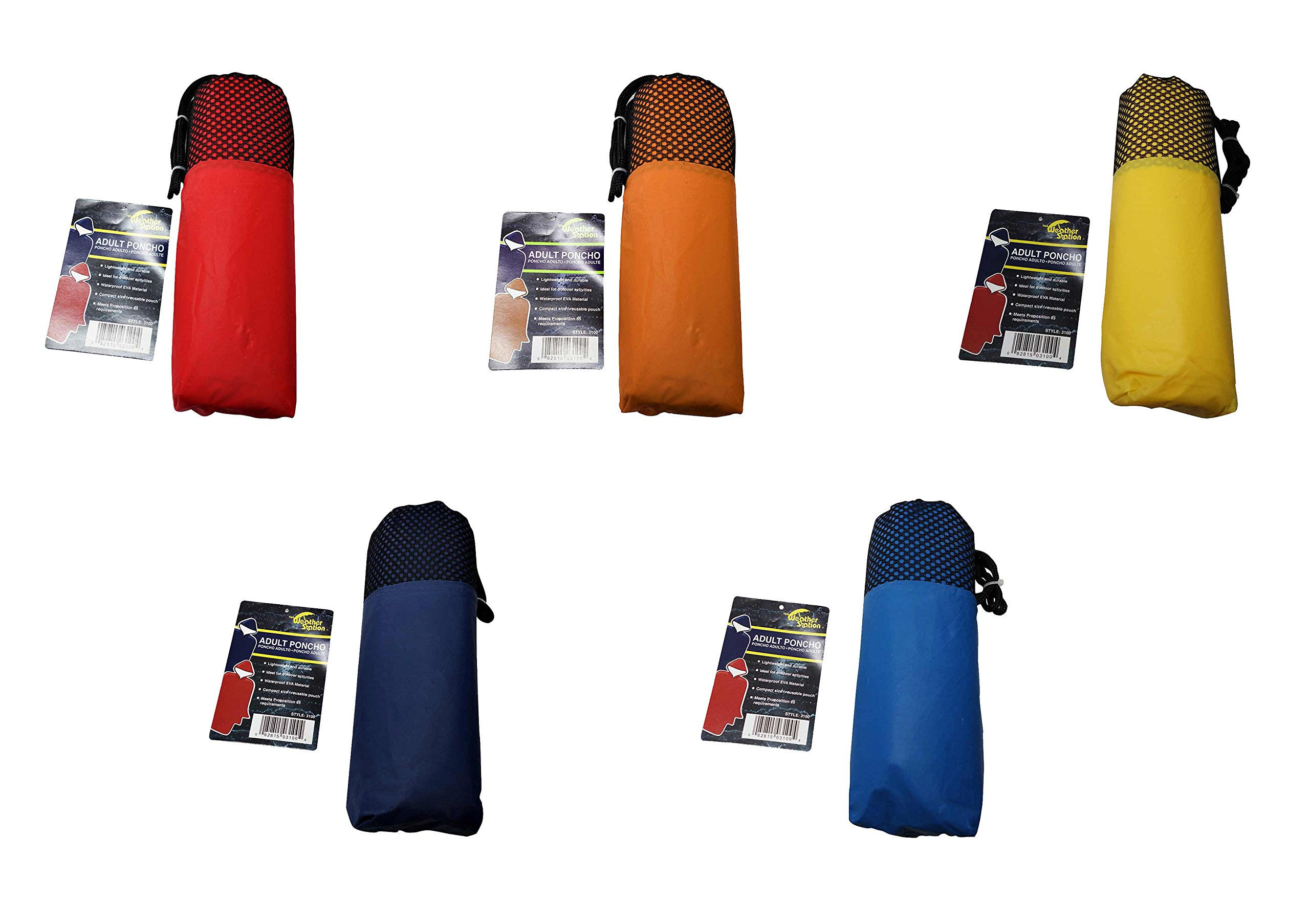 The Weather Station Adult Poncho, 2-Pack, Colors Vary by The Weather Station