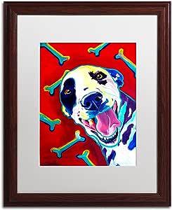 Trademark Fine Art Yum Artwork by DawgArt Wood Frame, White Matte, 16 by 20-Inch