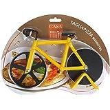 Viscio Trading Bicicletta Tagliapizza, Acciaio Inossidabile, Giallo, 3 x 17 x 12 cm