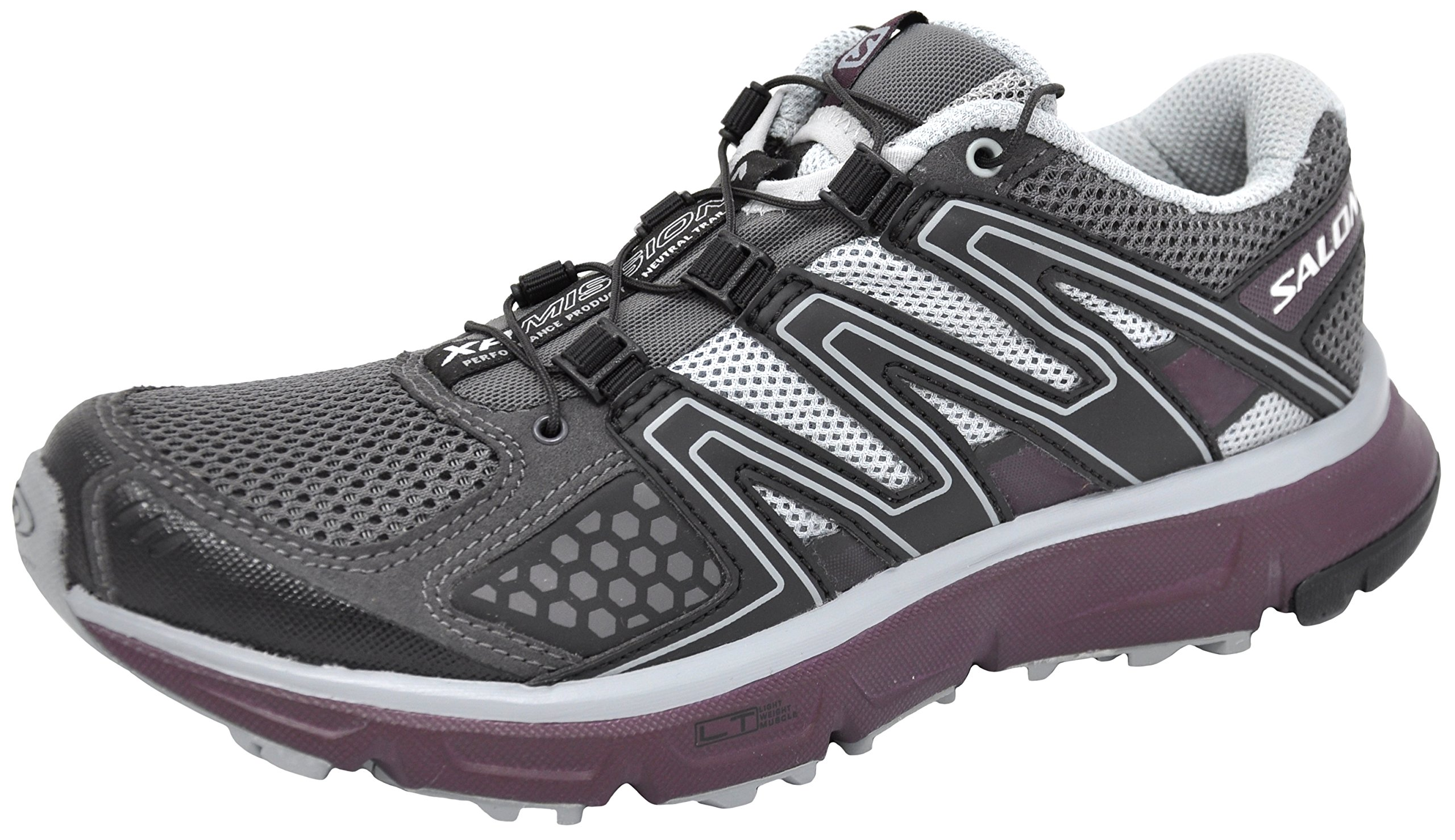SALOMON Women's XR Mission Trail Running Shoe (9 B(M) US, Magnent/Black/Purple) by SALOMON