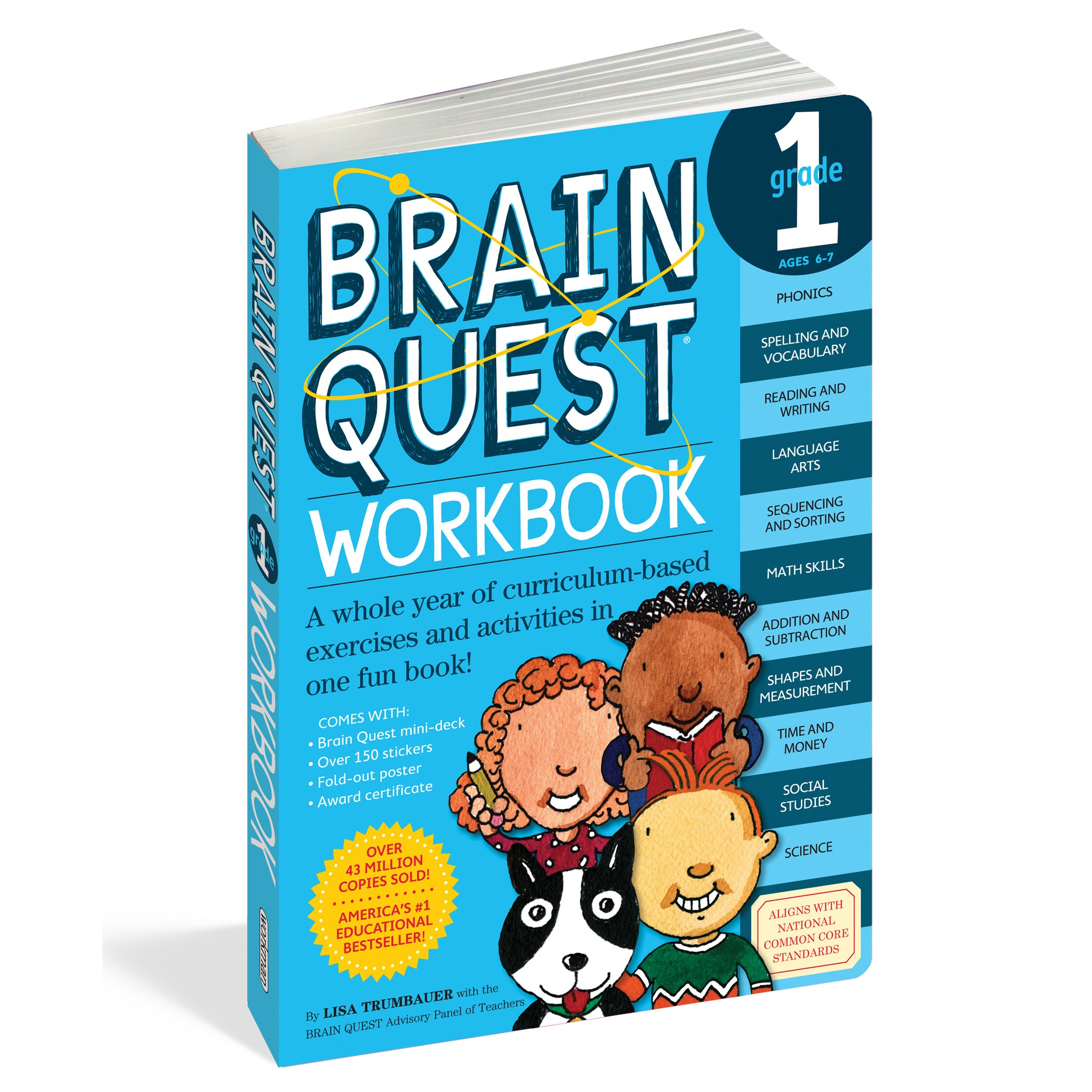 Brain Quest Workbook: Grade 1: Lisa Trumbauer: 9780761149149: Amazon ...