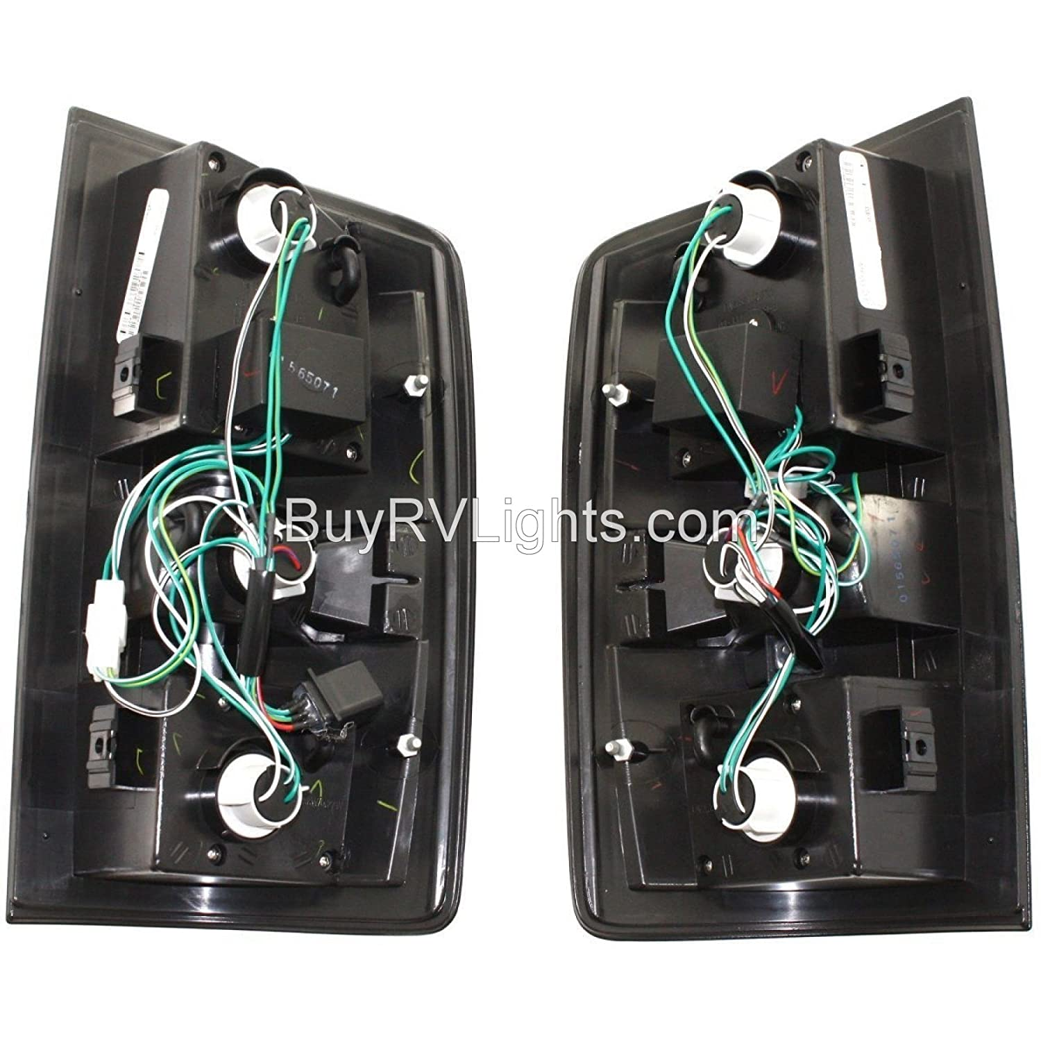 Black LED Rear Taillights Tail Lamps Lights Thor Motor Coach Hurricane 2010-2013 RV Motorhome Pair Left /& Right