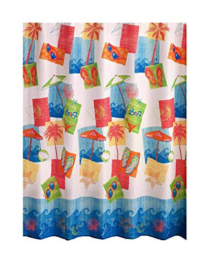 Image Unavailable Not Available For Color Miami Beach Fabric Shower Curtain