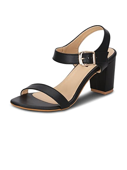 8f0ba1ae9a8d41 Get Glamr Women s Black Sandals  Buy Online at Low Prices in India -  Amazon.in