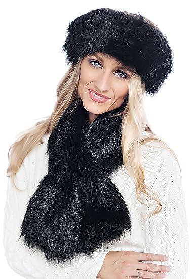 Donna Salyers Fabulous Furs Pull-Through Scarf (Black Fox) at Amazon ... 68cdcada4698