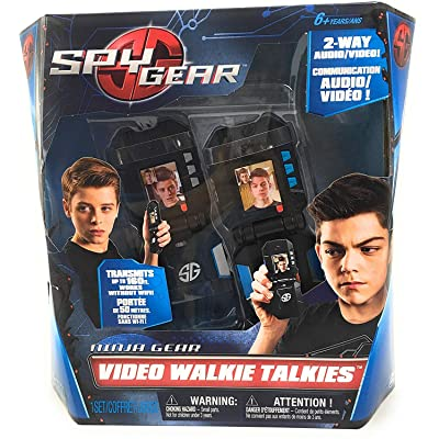 Spy Gear Ninja Video Walkie Talkies with 2-way Audio and Video: Toys & Games