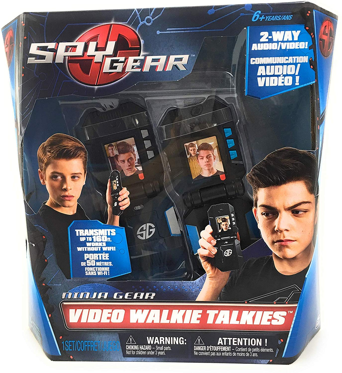 Spy Gear Ninja Video Walkie Talkies with 2-way Audio and Video