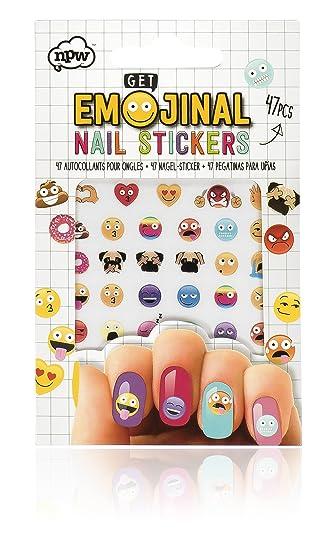 Npw Emoticon Kids Nail Art Stickers Set Of 47 Nail Art Kit By Get
