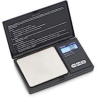 American Weigh - Báscula digital (100 g), Negro, tamaño del bolsillo, 1