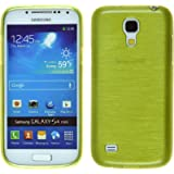 PhoneNatic Case für Samsung Galaxy S4 Mini Hülle Silikon pastellgrün brushed Cover Galaxy S4 Mini Tasche + 2 Schutzfolien