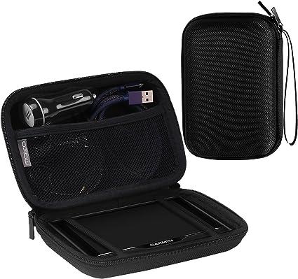 MoKo Estuche portátil de GPS de 5 Pulgadas,Bolsa de Almacenamiento de Bolsa de protección portátil Dura para el navegador GPS Garmin/Tomtom/Magellan con Pantalla de 5