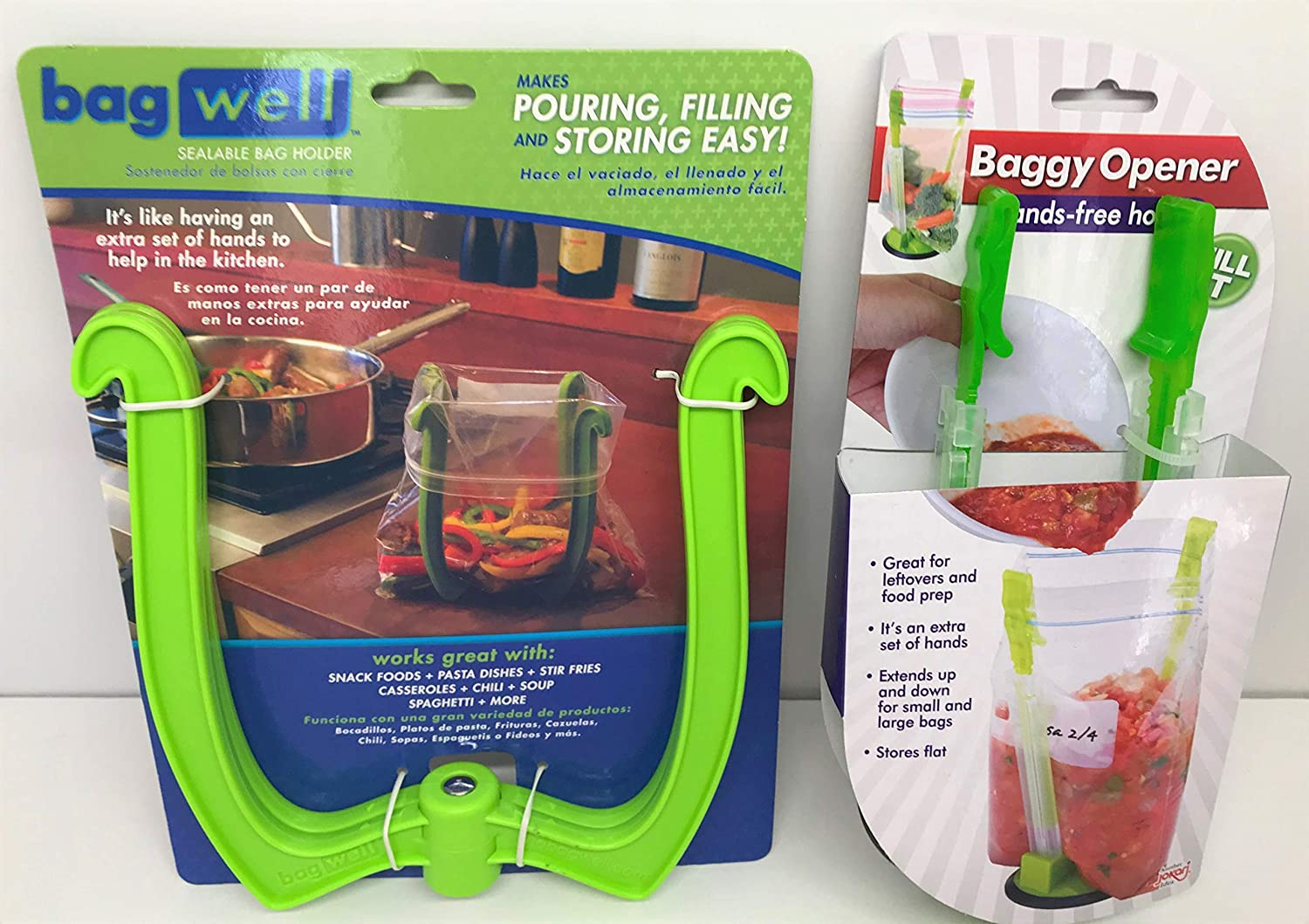 Baggie Holder Stand for Gallon and Quart Plastic Freezer Bags (Set /2) Canning Supplies for Baggies
