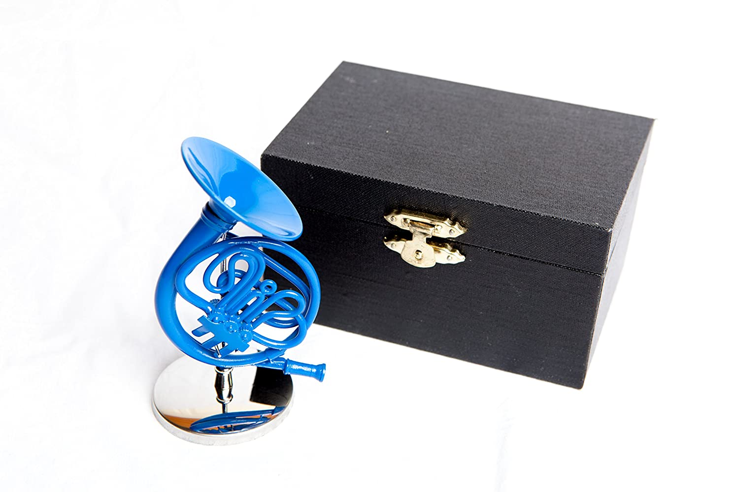 Decorative 4 Blue French Horn with Case, inspired by How I Met Your Mother Cool TV Props No Model