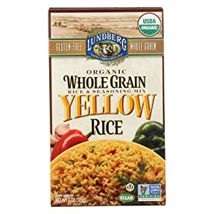 Lundberg Family Farms - Organic Whole Grain Yellow Rice, Savory Blend, Side Dish, Pantry Staple, 100% Whole Grain, Non-GMO, Gluten-Free, USDA Certified Organic, Vegan, Kosher (6 oz, 6-Pack)