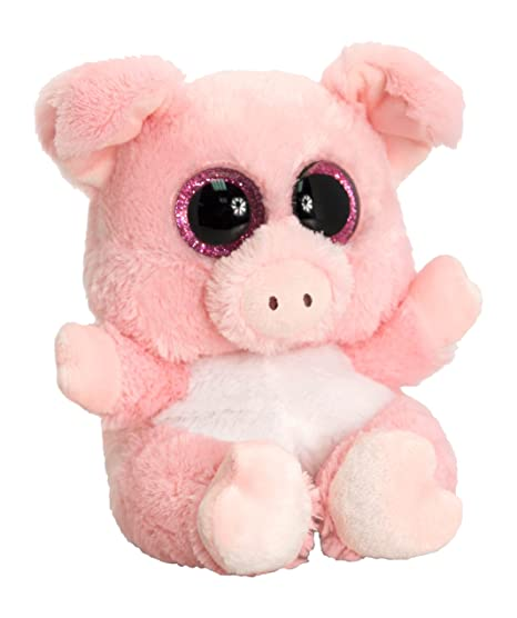 Keel Toys SF0434 15 cm Animotsu Pig Plush Toy by Keel Toys