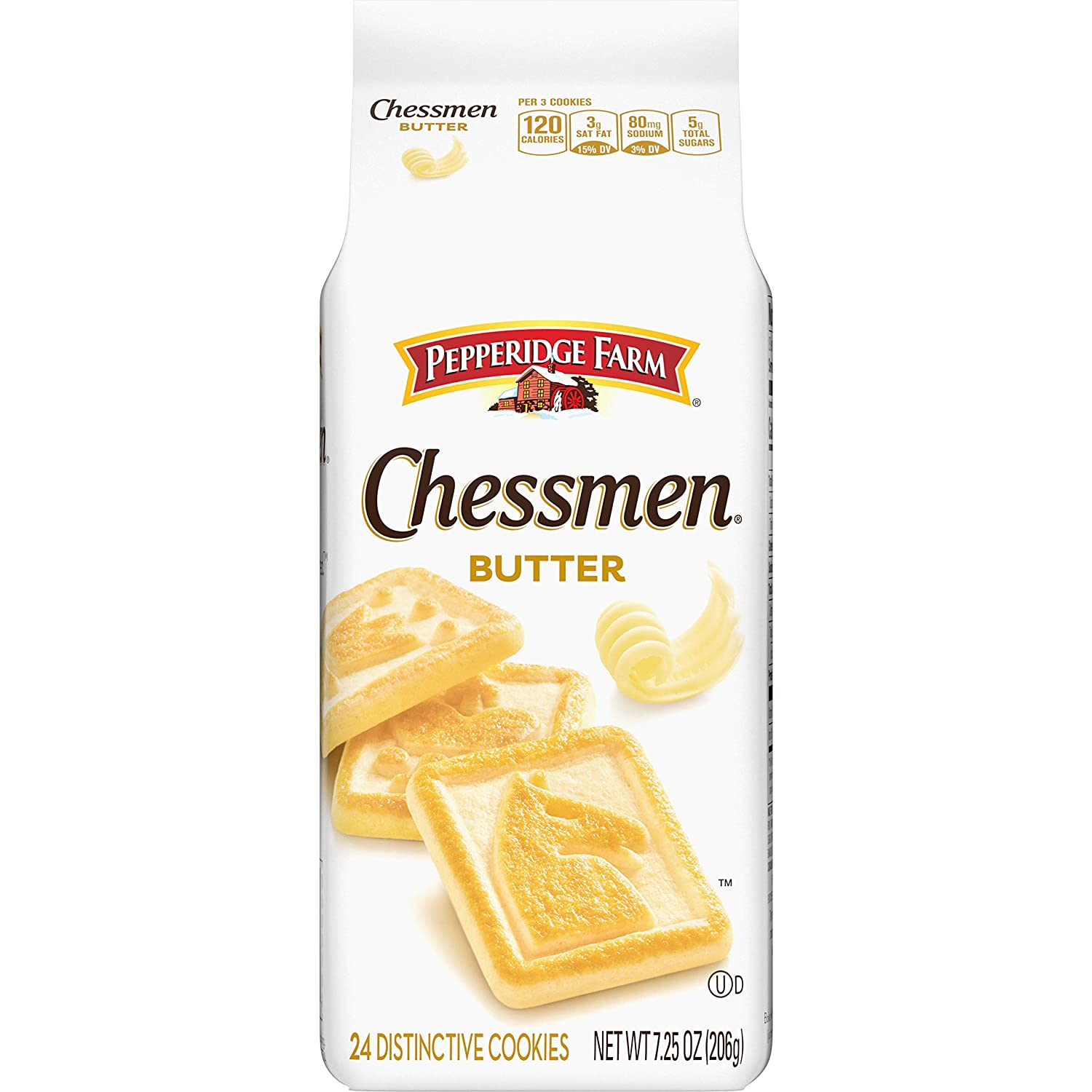 Pepperidge Farm Chessmen Butter Cookies 7 25 Oz Bag Amazon Com Grocery Gourmet Food