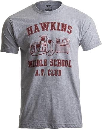 1f57680bce8ba Hawkins Middle School A.V. Club | Vintage Style 80s Costume AV Hawkin T- Shirt