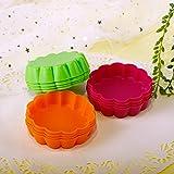 Webake 12 Pack Silicone Tart Molds Mini Quiche