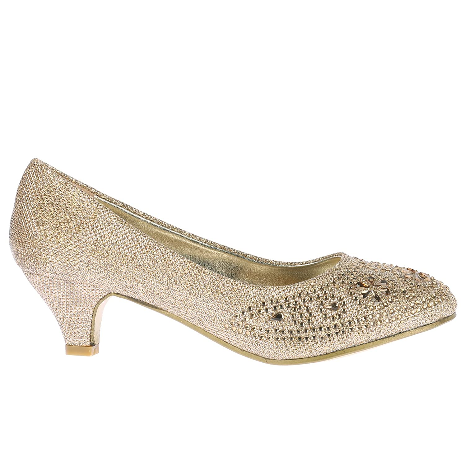 ByPublicDemand Sabrina Womens Mid Heel Diamante Party Court Shoes:  Amazon.co.uk: Shoes & Bags