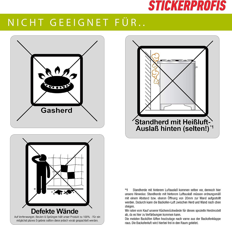 alle Untergr/ünde f/ür Kreide Tafelfolie Premium 60 x 80cm Hart PET Material - 1.5mm Versteift SCHIEFERTAFEL StickerProfis K/üchenr/ückwand selbstklebend