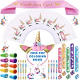 9c37061bf566 Party Spice 52 Pack Best Unicorn Birthday Party Favors Supplies Fillers