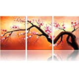 "Ode-Rin - Modern Abstract Blossoms Canvas Wall Art for Home Decoration Abstract Tree art Painting for Wall Landscapes Framed Artwork,Ready to Hang - (36""x16""inch)"