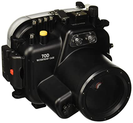 Polaroid SLR Dive Rated Waterproof Underwater Housing Case For The Canon  70D Camera with a 18-55mm Lens