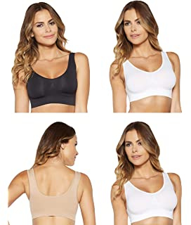 b74569e695 Delight Bra!® Women s Comfortable Seamless Bra Pack of 3  Amazon.co ...
