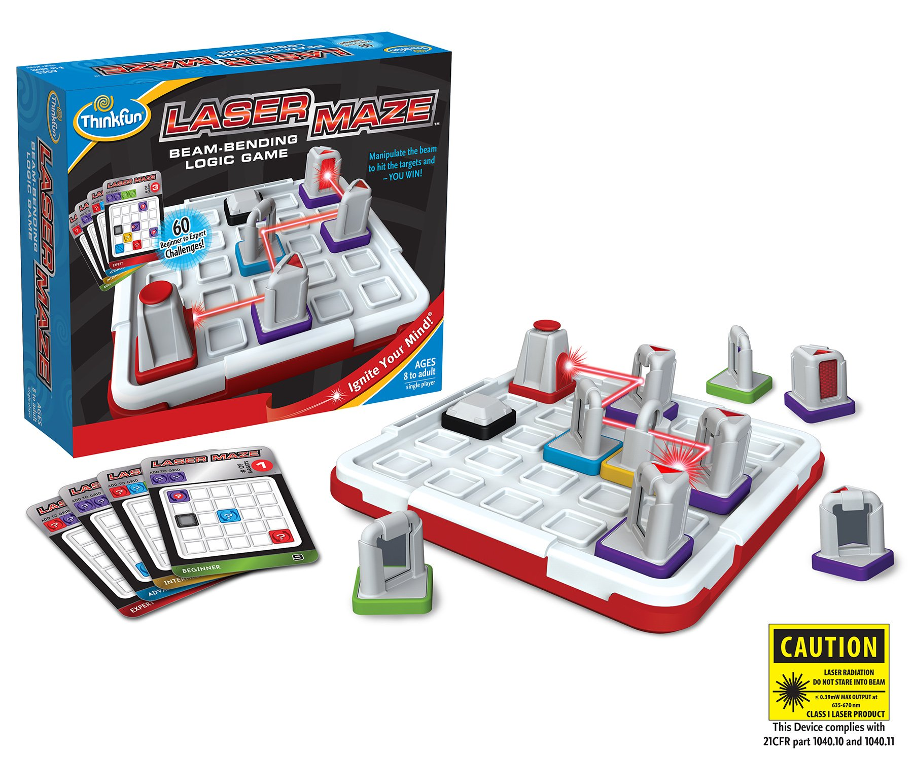 ThinkFun Laser Maze (Class 1) Logic Game and STEM Toy for Boys and Girls Age 8 and Up - Award Winning Game for Kids by Think Fun