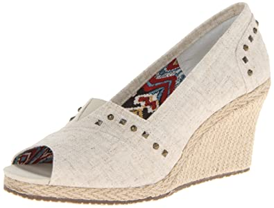 Skechers Cali Women's Cali Club-Salty Wedge Pump,Natural,7 ...