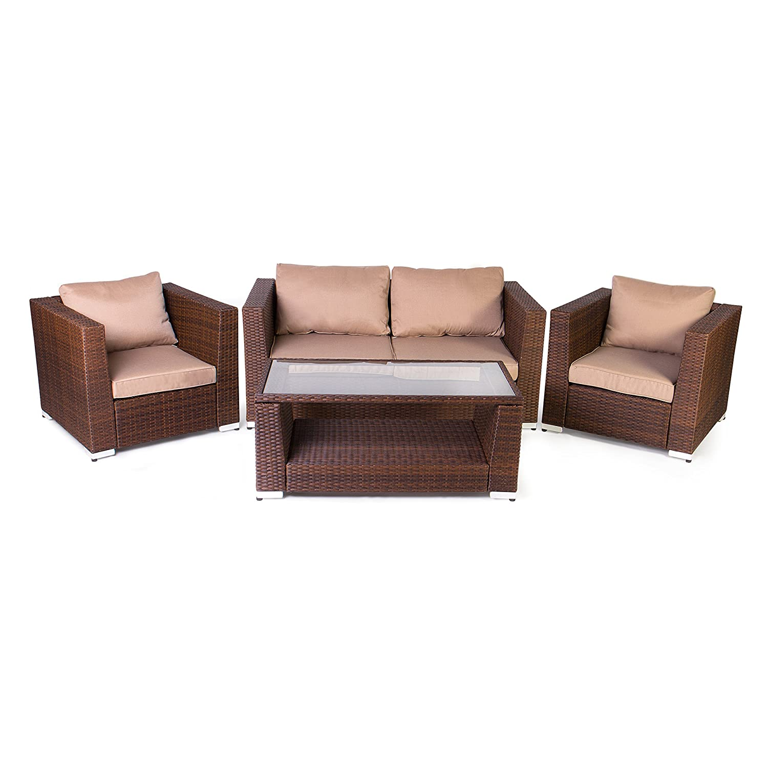 Vanage Gartenmobel Set Rom Rattan Optik Polyrattan Lounge Mobel