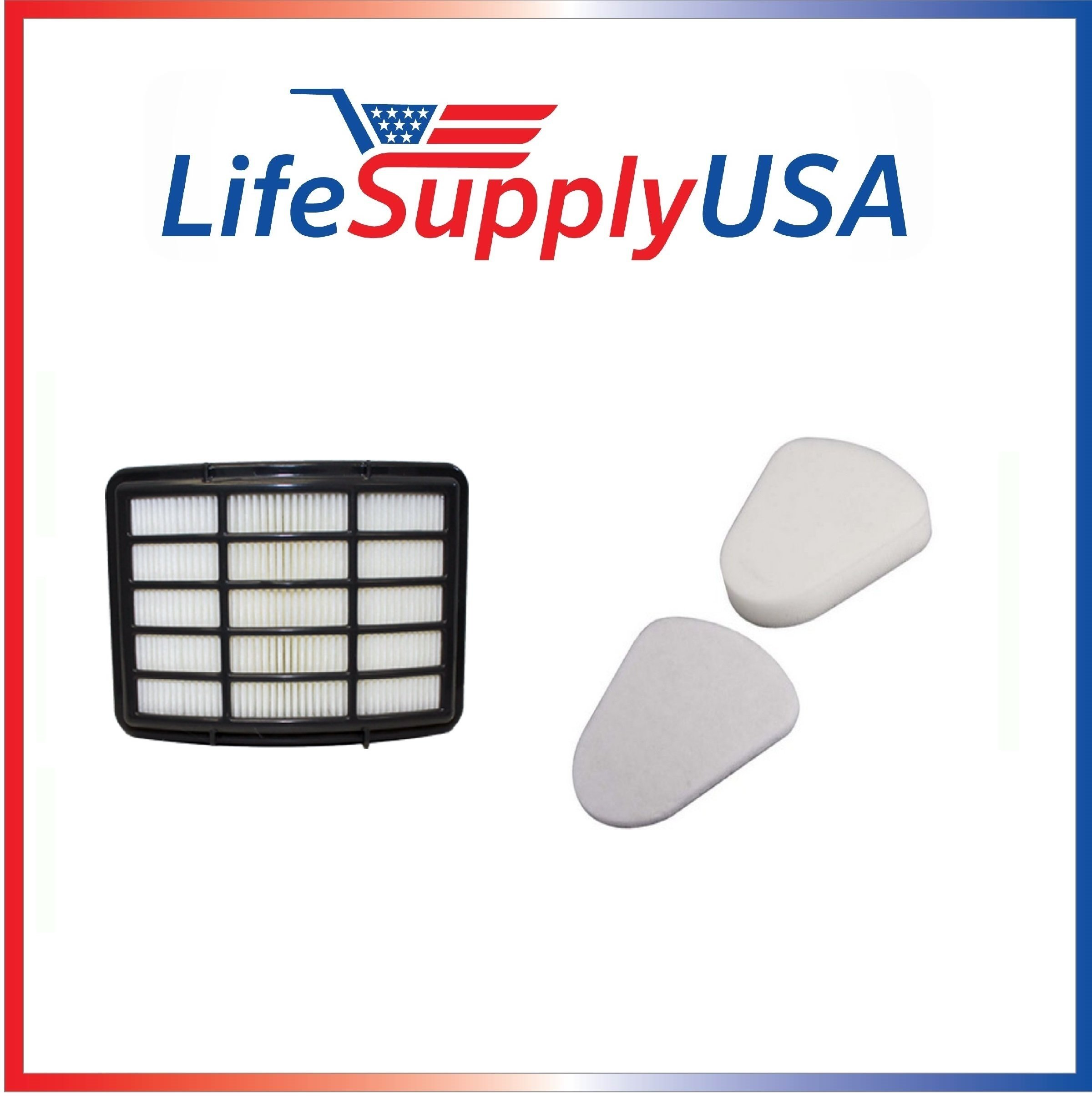 50 Pk Filter Kit for Shark Navigator Lift-away Nv350 Nv351, Nv352, Nv355, Nv356, Nv357, Xff350, Xhf350 50 Hepa Filter and 50 Foam and 50 Felt Pre-Filters by LifeSupplyUSA