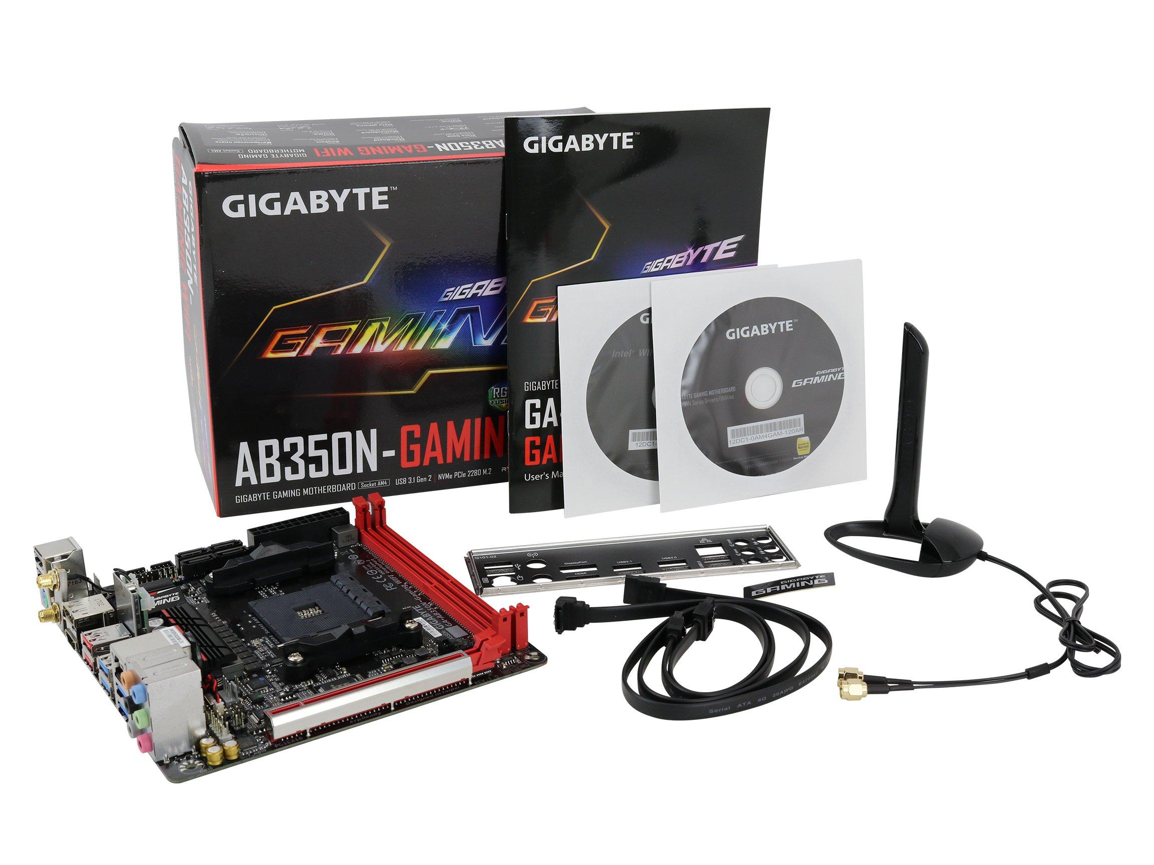 GIGABYTE GA-AB350N-Gaming WIFI (AMD/Ryzen AM4/B350/RGB Fusion/HDMI/DP/M.2/SATA/USB 3.1 Type-A/Wifi/Mini ITX/DDR4 Motherboard) by Gigabyte (Image #7)