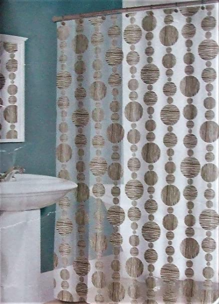 Amazon Splash Bath Talisman Cirlcles Vinyl Shower Curtain Brown