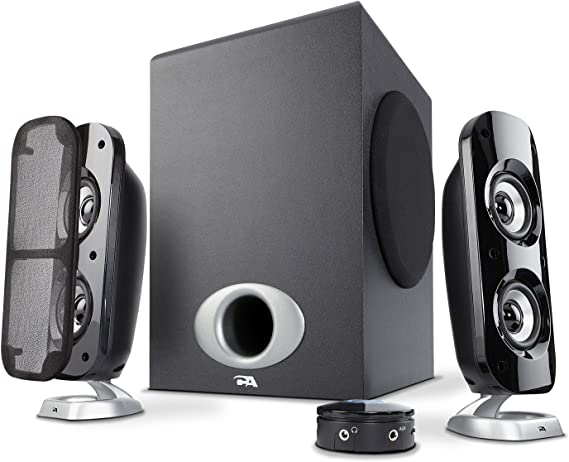Cyber Acoustics High Power 2.1 Subwoofer Speaker System with 80W of Power – Perfect for Gaming