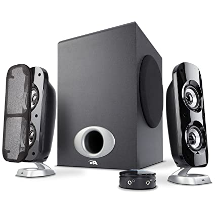 Cyber Acoustics High Power 21 Subwoofer Speaker System With 80W Of Perfect For Gaming