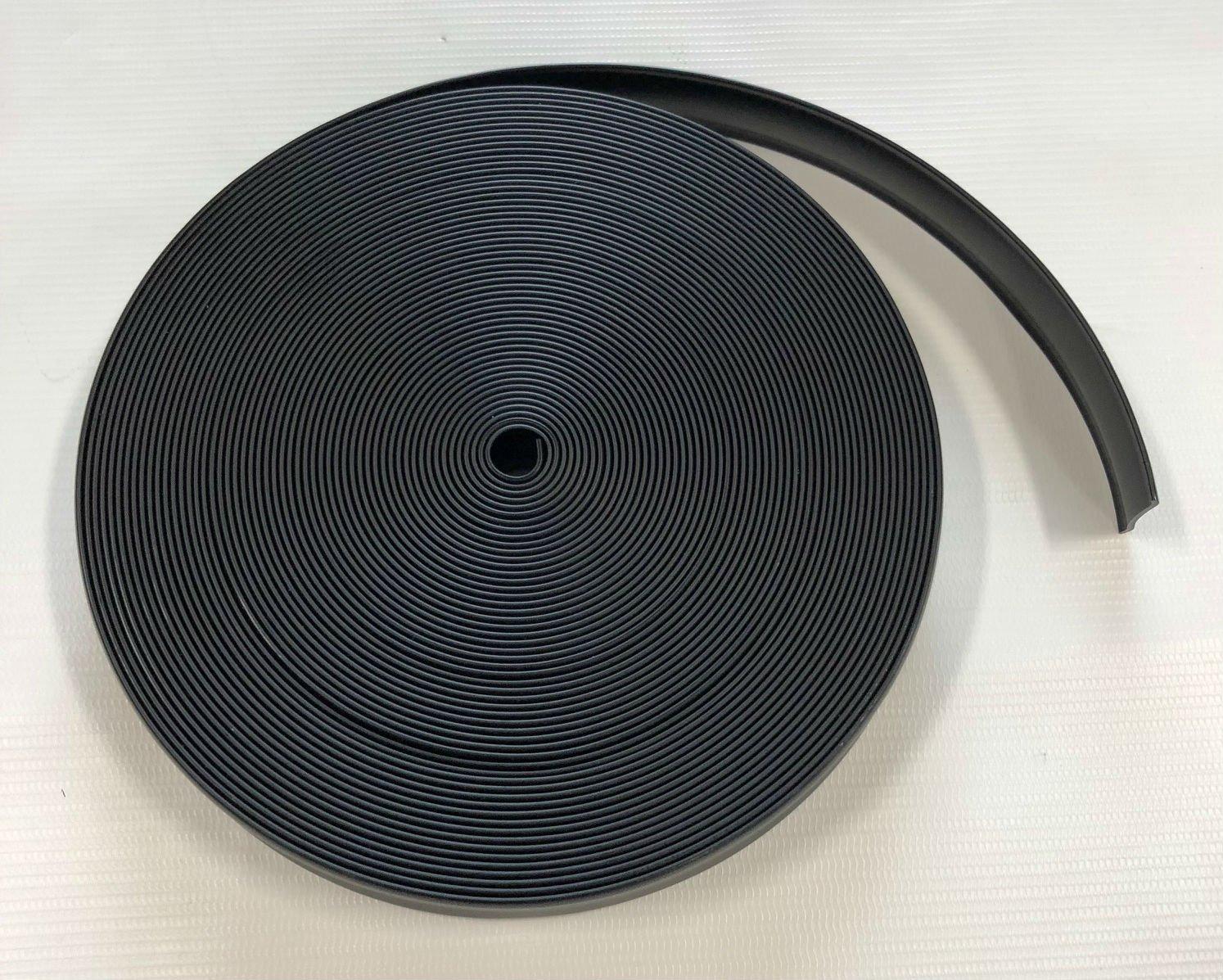 Triton 06111-BK 1 Inch Black Vinyl Trim Insert - 50 Foot Roll by Triton