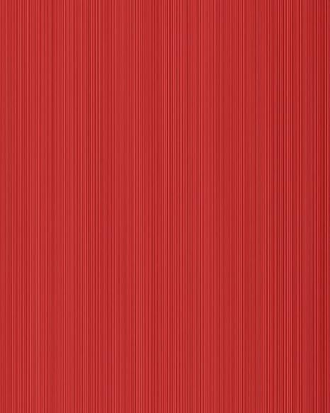 Unicolour Wallpaper Wall EDEM 598 24 Blown Vinyl Textured With Stripes Matt Red