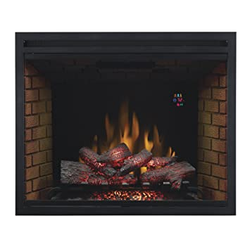 ClassicFlame 39EB500GRA 39u0026quot; Traditional Built In Electric Fireplace  Insert, Dual Voltage Option  Built In Electric Fireplace