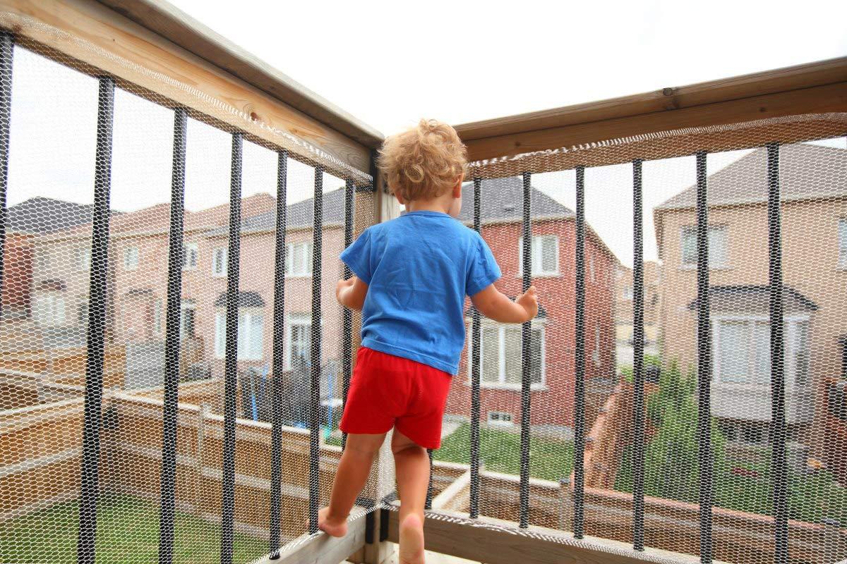 Red de Protecci/ón Duradero Red de Seguridad Escaleras Malla Tejida para Escaleras Balcones Terrazas PuertasVentanas Beb/é Mascota 3M Blanco