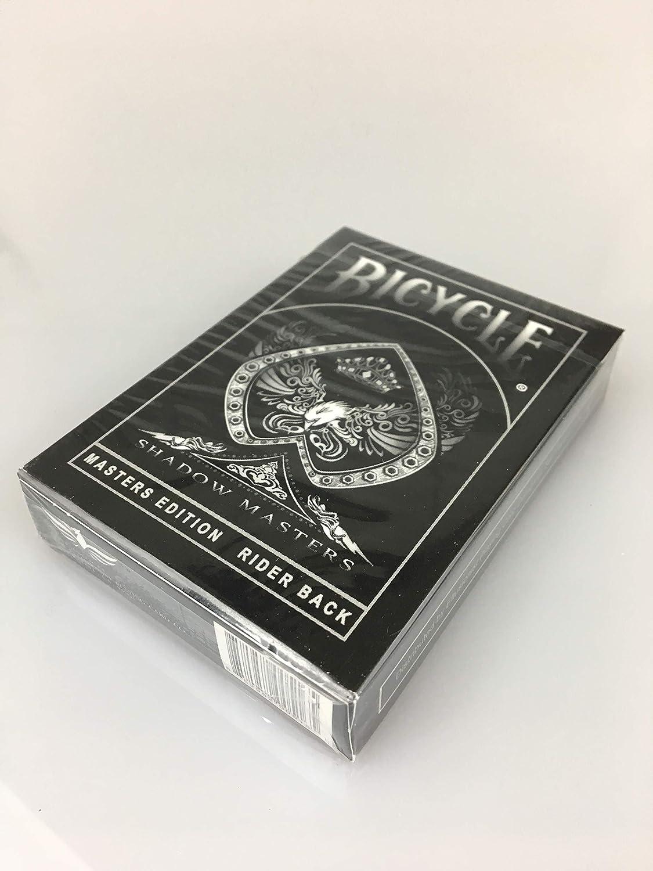 3 GRATIS Look /& Feel Karten Double Back Gimmick Card Kartendeck zum Zaubern und Pokern Inkl Performance Finish Made in USA Kartenspiel in USPCC Qualit/ät Bicycle Shadow Masters Pokerkarten