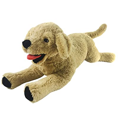 Houwsbaby Large Plush Golden Retriever Stuffed Puppy Pillow Pet Soft Dog Floppy Puppy Toy Cuddly Gift for Kids Boys Girls Birthday, Brown, 21'': Home & Kitchen