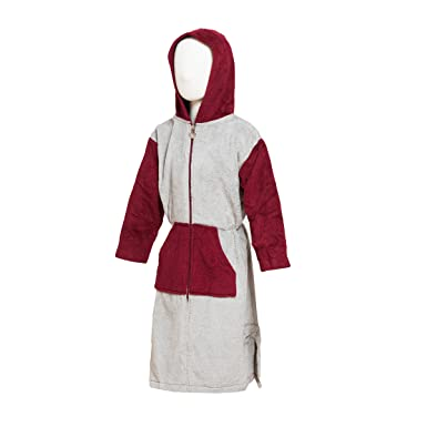 0c9fcab8f0 STAR Girls Childrens Hooded Zip-up Terry Bath Robe 100% Cotton (2 Years