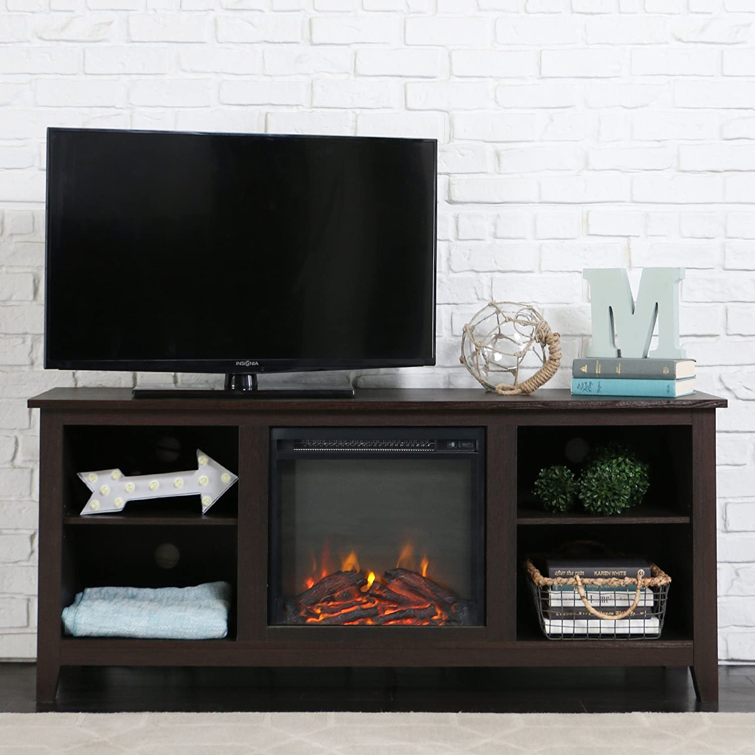 entertainment fireplace units p kittery stand white wall tv gorgeous on