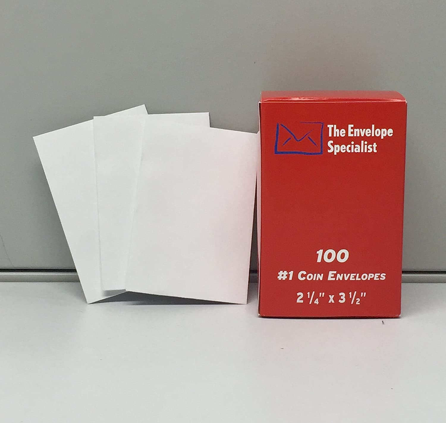 #1 Coin Envelope 2 1/4 x 3 1/2 White Wove 100 Envelopes per pack The Envelope Specialist