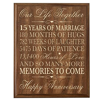 Amazon.com - LifeSong Milestones 15th Wedding Anniversary Gift for ...