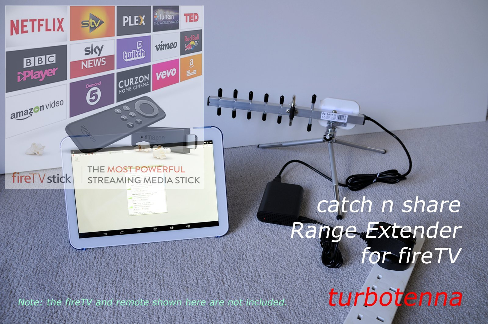 Catch n Share WiFi Extender kit for High Power USB-Yagi TurboTenna antenna 2200mW by Turbotenna (Image #1)
