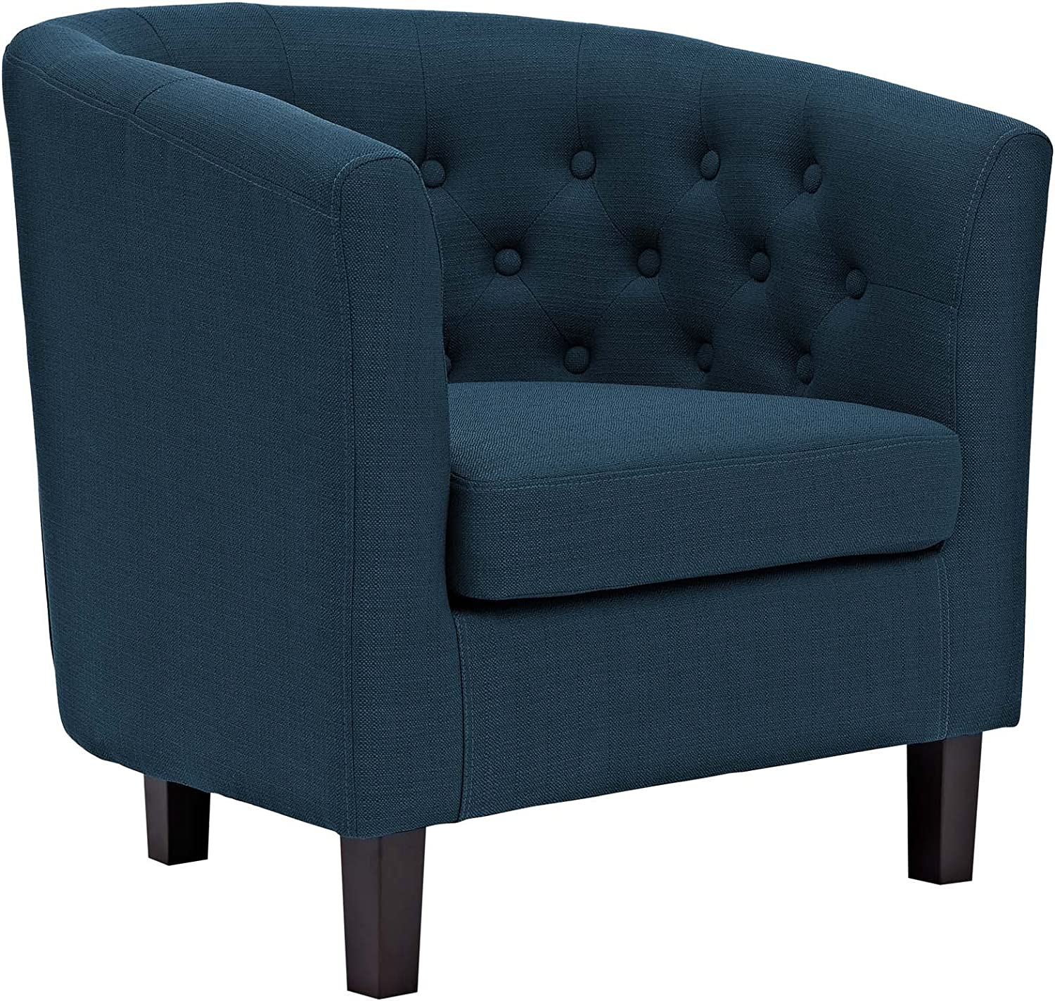 Modway Prospect Upholstered Fabric Contemporary Modern Accent Arm Chair in Azure